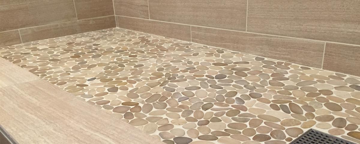 How To Make A Tiled Shower Floor Less, Porcelain Tile Bathroom Floor Slippery